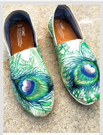 shoes toms toms shoes women peacock