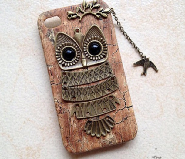 phone cover iphone case wood owl broun wood owl iphone case brown pattern
