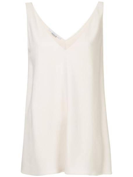 Stella McCartney - Sutton tank top - women - Cotton/Spandex/Elastane/Acetate/Viscose - 40, Nude/Neutrals, Cotton/Spandex/Elastane/Acetate/Viscose