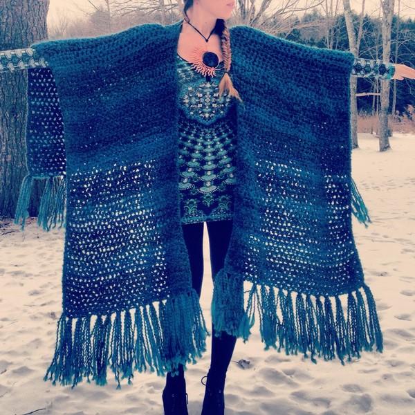 sweater kimono style wrap