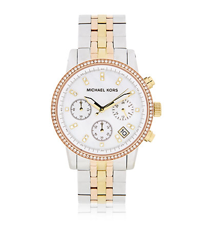 Michael Kors Ritz Chronograph Tricolour Watch | Harrods