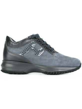 chunky sole sneakers blue shoes