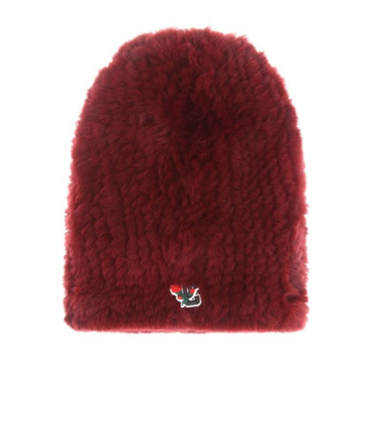 Undercover Fur hat in red