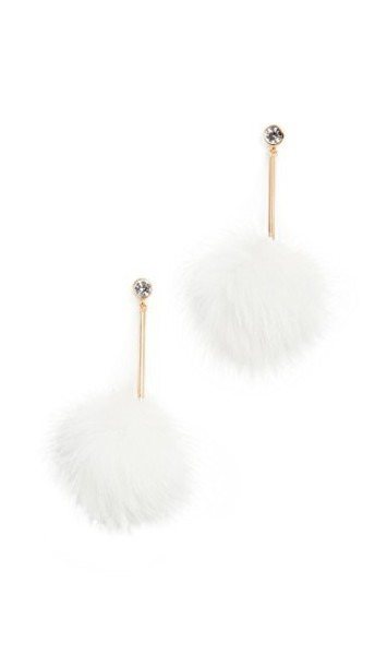 Kate Spade New York earrings white jewels