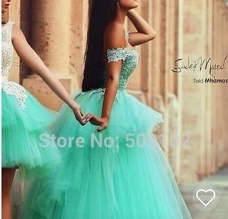 dress turqoise prom lace long turqoise dress