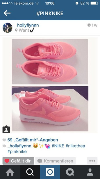 shoes nike air max thea nike shoes nike nike air air max pink pink