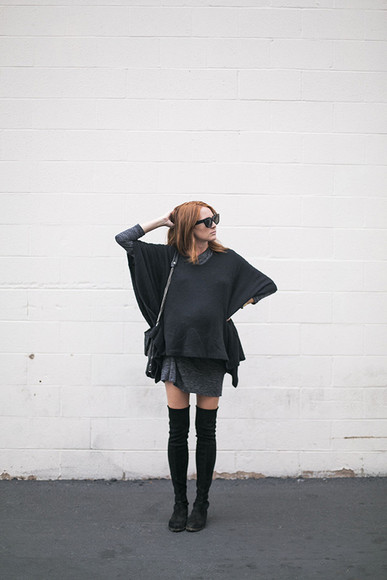 blogger sunglasses bag could i have that knee high socks maternity maternity dress knitted sweater