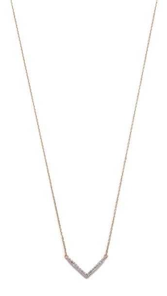Adina Reyter Tiny Pave V Necklace - Gold
