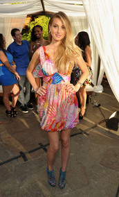 dress,colorful,cut-out,whitney port