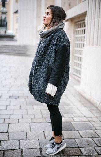 jacket warm soft fluffy kstyle urban grunge blue grey black cool nice oversized long korean style korean fashion streetstyle streetwear