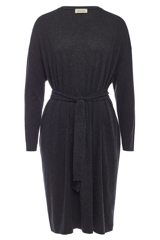 American Vintage Belted Dress with Cotton  in grey