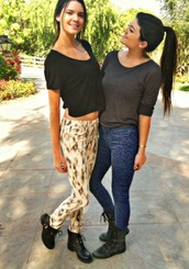 kendall and kylie jenner,cute,jeans,printed pants