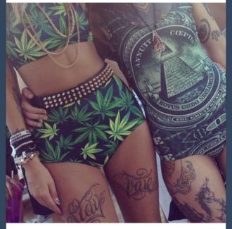 swimwear weed marijuana illuminati