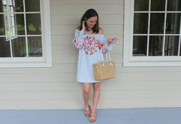 582d8d08cc26b logancan blogger dress shoes bag basket bag summer dress sandals summer  outfits