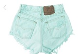 shorts,mint,high waisted,tumblr,hipster,jeans