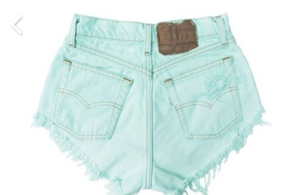 shorts mint high waisted tumblr hipster jeans