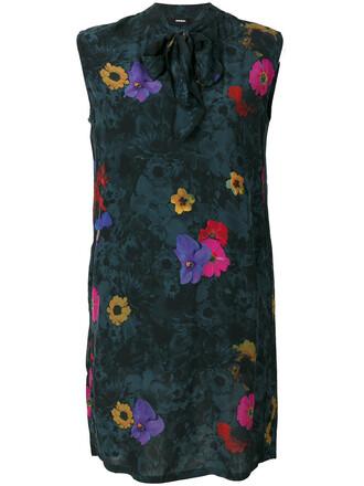 dress print dress women floral print grey