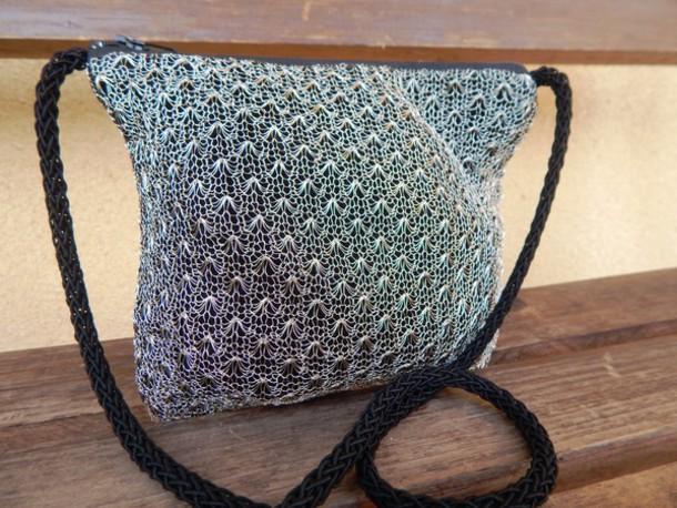 bag silver mesh bag vintage metal mesh bag metal mesh bag