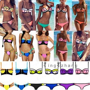 Up padded bra swimsuit collocation suit swimwear bathing bikini set