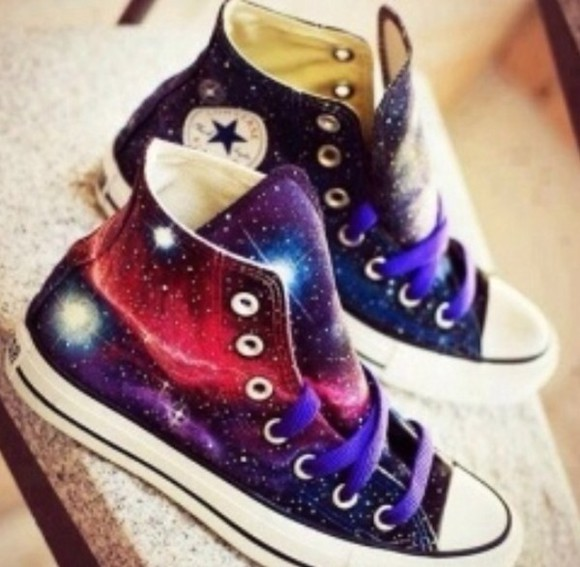 galaxy shoes converse converse high tops galaxy converse