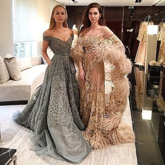 dress designer prom dress grey dress silver dress sequin dress fashion long prom dress wedding dress gown
