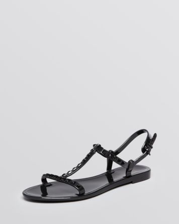 Rebecca Minkoff Studded Flat Jelly Sandals - Sava | Bloomingdale's
