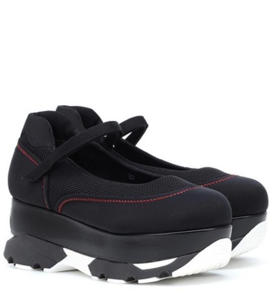 Marni Scuba flatform sneakers in black