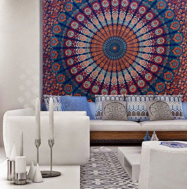 Home Accessory Bedding Mandala Bedsheet Bedcover Tapestry Tapestry Wall  Hanging Living Room Beach Throw Beach Blanket Part 38