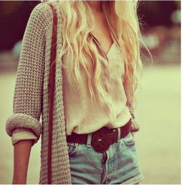 sweater winter sweater cozy winter outfits winter outfits grey blouse shorts