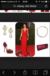 dress,selena gomez,red,debs dress,debs,long,v neck,reddress promdress