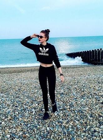 shirt adidas sweater black sweater adidas