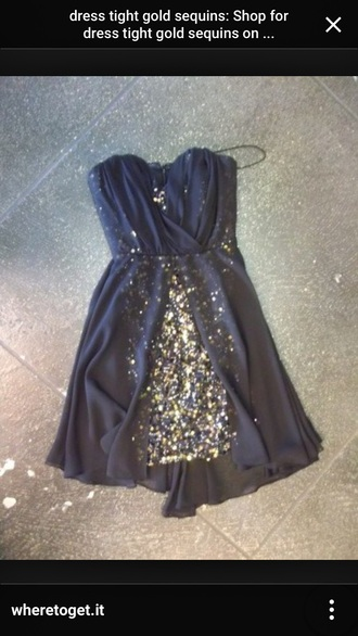 dress gold sequins formal dress pretty