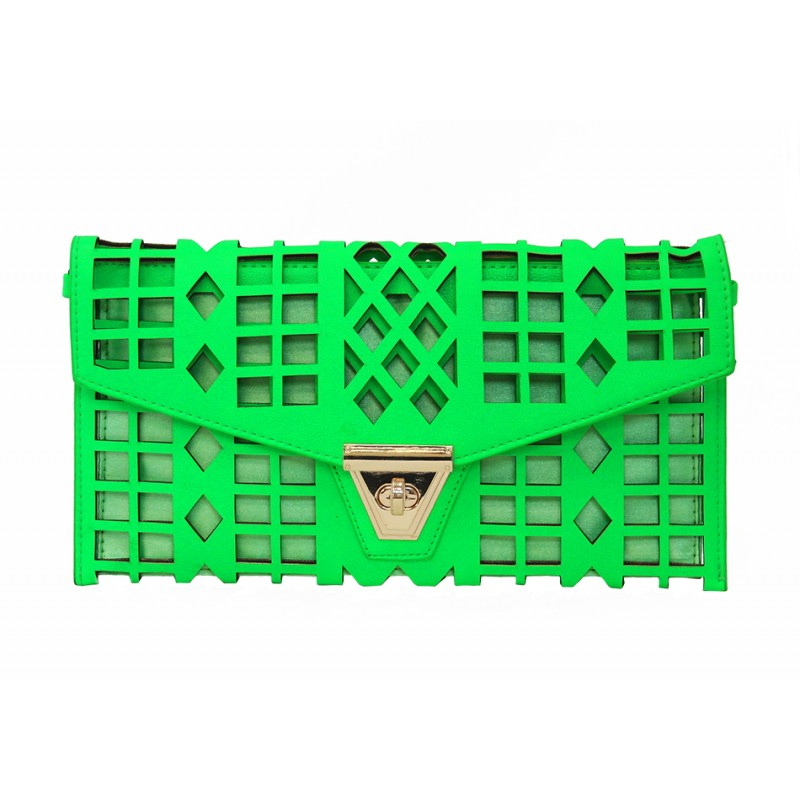 Break Free Clutch - Neon Green - Bags - Accessories