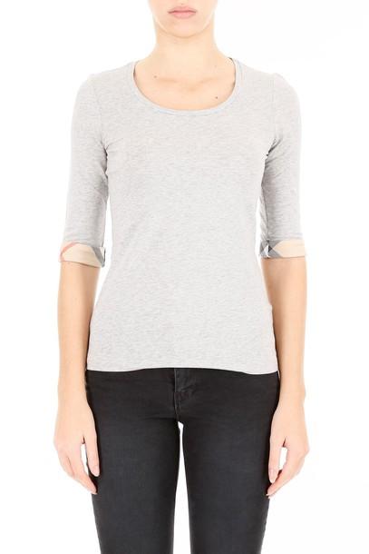 Burberry t-shirt shirt cotton t-shirt t-shirt cotton pale grey top