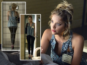 top pretty little liars ashley benson hanna marin bcbgmaxazria python print