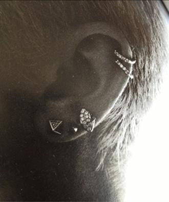 jewels piercing ring jewelry earrings helix piercing earings gold earings diamonds gold cartlige rings miley cyrus