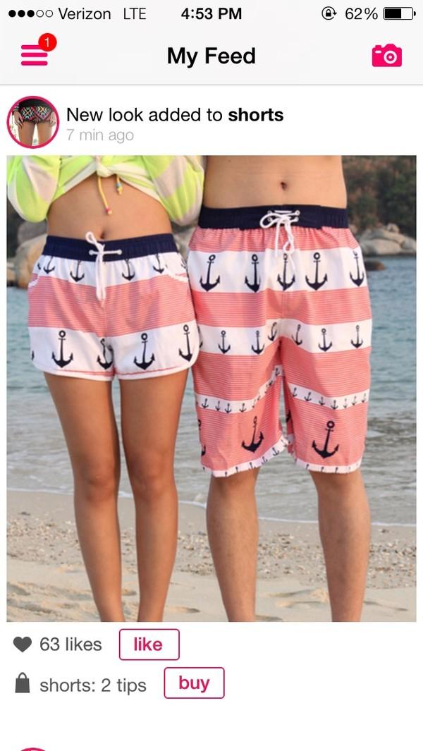 swimwear anchor shorts boardshorts