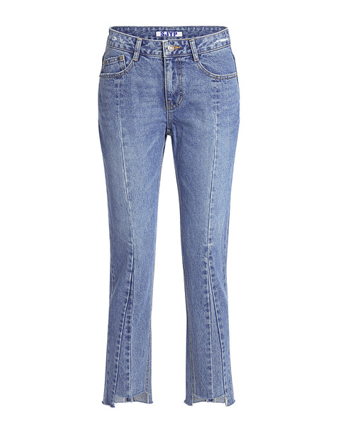 Sjyp Fray Hem Straight-leg Jeans Denim Blue