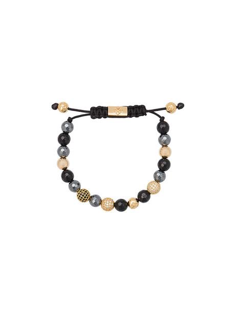 Nialaya Jewelry beaded bracelet women beaded gold silver black jewels