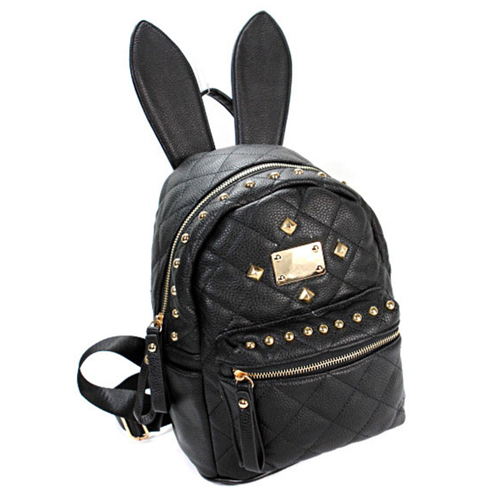 [grxjy5204228]cute rabbit ears rivets backpack