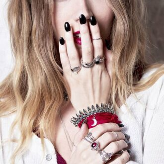 jewels shop dixi gypsy boho bohemian hippie grunge jewelry jewelery sterling silver ring bracelets crescent moon
