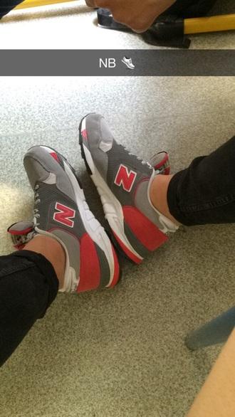 shoes sneakers 850 red grey white courir paris châtelet les halles new balance