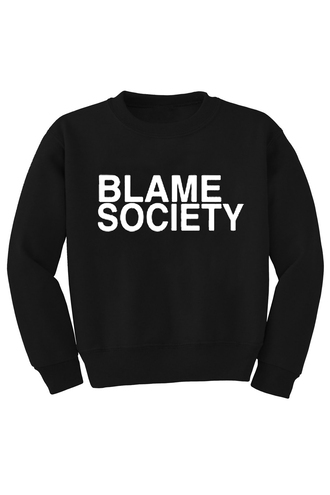 sweater jumper black jumper j-z blame society sweatshirt black sweatshirt