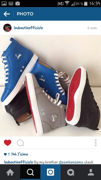 shoes louboutin grise