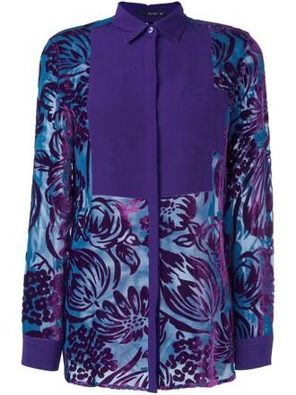 shirt sheer shirt sheer women silk purple pink top