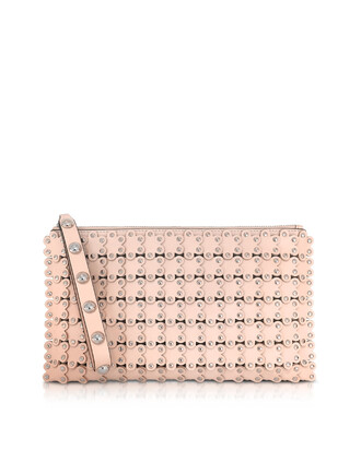 leather clutch clutch leather rose bag