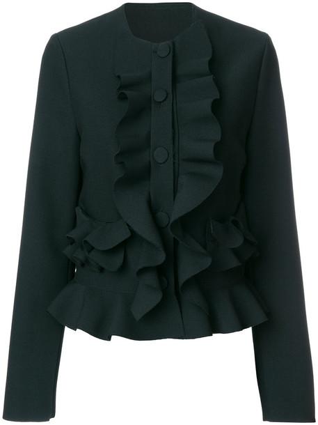 jacket ruffle women spandex black