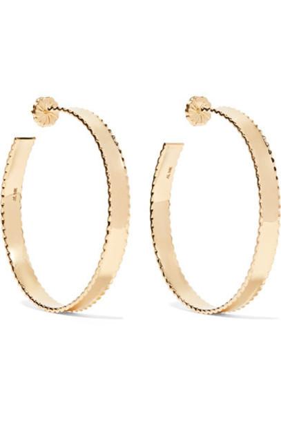Alison Lou earrings hoop earrings gold jewels