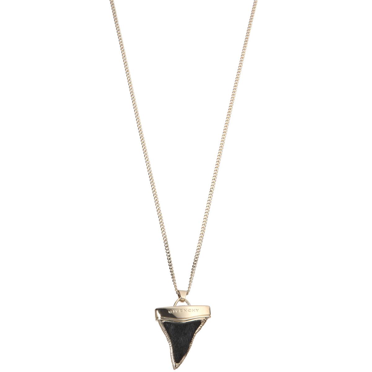 givenchy ponyhair mini shark s tooth necklace at barneys