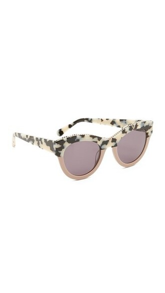light pink colorblock light sunglasses white pink grey
